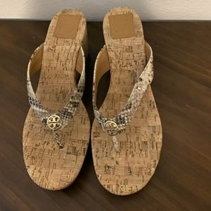 Tory Burch- Snake Corkscrew Sandals- EUC